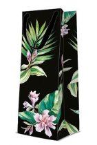 Exotic Flowers papír ajándéktáska italos 12x37x10cm