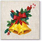 P.W.SDL012900 Jingle Bells papírszalvéta 33x33cm,20db-os
