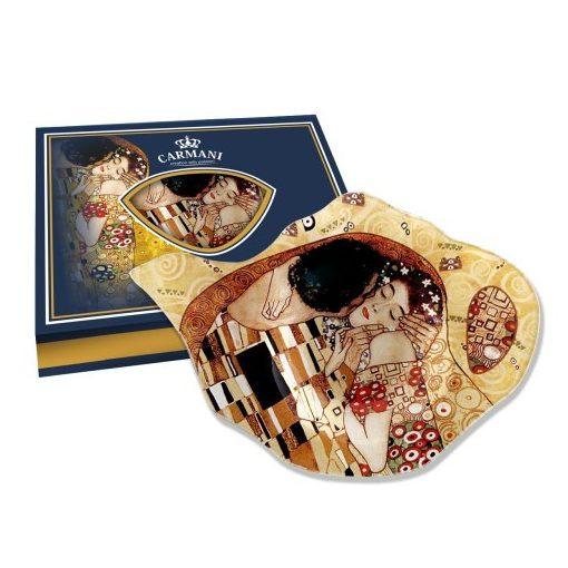 Üveg teafiltertartó 15x11,4cm, Klimt:The KIss