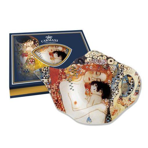Üveg teafiltertartó 15x11cm, Klimt: Anya gyermekével