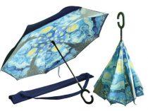 Esernyő dia105x80cm,belső mintával,Van Gogh: Csillagos éj