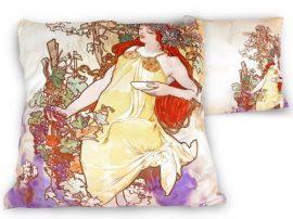 H.C.021-1502 Párna 45x45cm,polyester, Mucha:Ősz