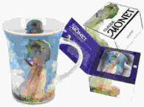 Porcelánbögre 350ml,Monet:Nő esernyővel