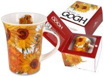 Porcelánbögre Van Gogh dobozban,350ml,Van Gogh:Napraforgók