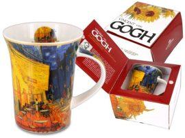 Porcelánbögre Van Gogh dobozban,350ml,Van cGogh:Kávéház éjjel