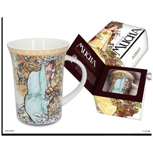 Porcelánbögre 400ml,Mucha:Tél