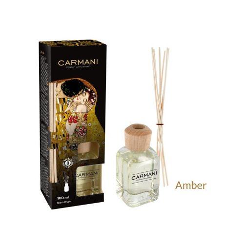 Szobaillatosító 100ml,Klimt:Kiss dobozban , rattanpálcikával, Amber(Borostyán)
