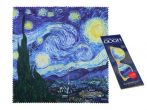 H.C.021-0529 Szemüvegtörlő kendő 20x20cm ,Van Gogh: Csillagos Éj