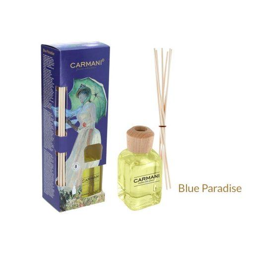 Szobaillatosító 100ml,Monet, dobozban,rattanpálcikával, blue paradise