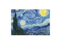H.C.262-2210 Fakeretes művászonkép 30x40cm, Van Gogh:Csillagos éj