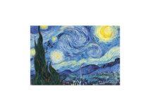 H.C.262-3210 Vászonkép fakereten ,20x30cm,Van Gogh: Csillagos éj