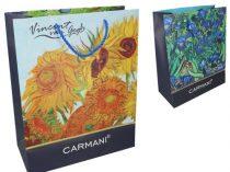 Ajándéktáska papír 40x30x15cm, Van Gogh:Napraforgó/Írisz
