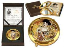 Kézitükör nagyítós, fémkeretben,dobozban 11cm, Klimt:Adele Bloch