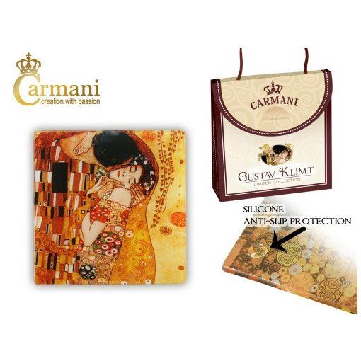 Üveg poháralátét 10,5x10,5cm, Klimt: The Kiss
