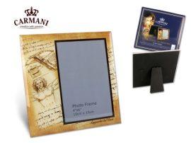 """H.C.044-5017 Üveg képkeret  Leonardo Da Vinci : Vitruvius tanulmány """"  18x18cm"""""""