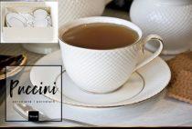 Puccini porceláncsésze+alj,250ml,2 személyes,dobozban