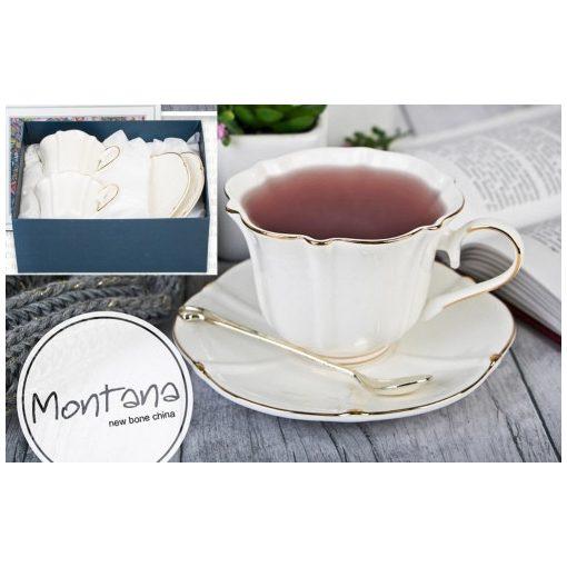 Montana porceláncsésze+alj, 250ml, 2személyes, dobozban