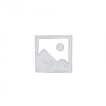 Fehér-kék mintás fiókgomb 4,5 cm