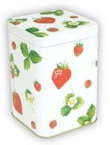 Sweet Strawberries konyhai fémdoboz 71x71x93mm