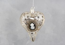 Antik üveg szív
