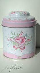 Vintage rózsás tároló