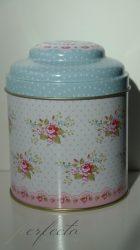 Vintage kék tároló
