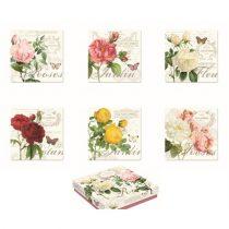 Parafa poháralátét 10,5x10,5cm,6db-os,Jardin Botanique