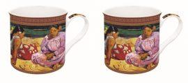 R2S.171GAU1 Porcelán bögreszett 2db-os dobozban, 300ml,Gauguin: Tahiti nők a parton