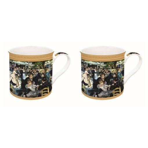Porcelán bögreszett 2db-os dobozban,300ml,Renoir:Bál a Le moulin de la Galette-nél