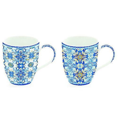 Porcelán bögreszett 2db-os dobozban, 350ml, Maiolica Blue