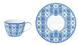 R2S.938MAIB Porcelán eszpresszócsésze + alj, 110ml, Maiolica Blue