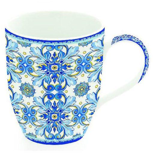 Porcelánbögre 350ml, Maiolica Blue White