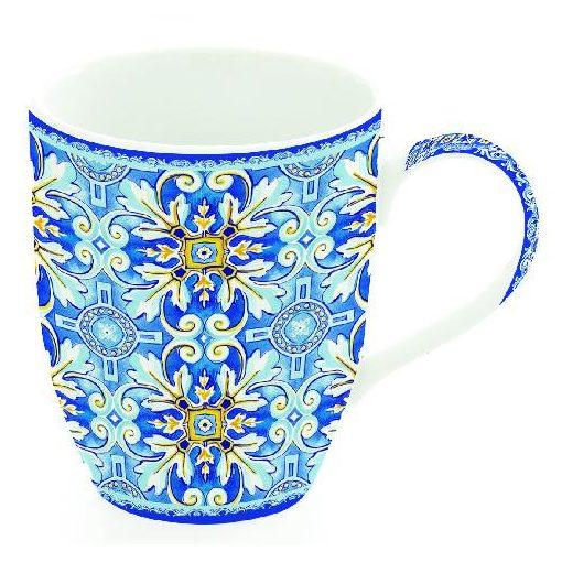 Porcelánbögre 350ml, Maiolica Blue