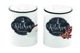 R2S.1611KIBK Porcelán só-borsszórószett 65ml, dobozban, Kitchen Basics