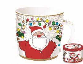 Porcelánbögre 350ml,fémdobozban,Christmas Friends 4