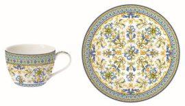 Porcelán eszpresszócsésze+alj, 110ml, Capri