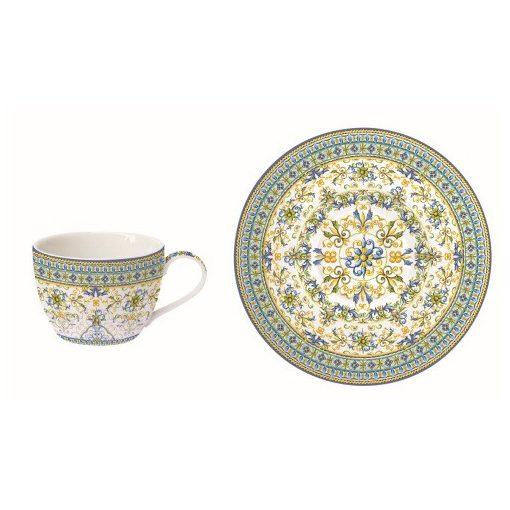 Porcelán teáscsésze+alj, 240ml, Capri