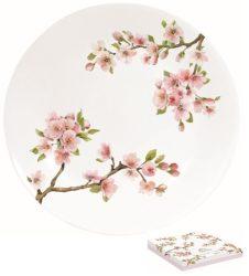 Porcelán desszerttányér 19cm,dobozban,Sakura