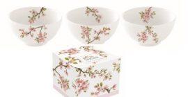 R2S.1084SAKU Porcelán tálkaszett S/3,9,5cm,dobozban,Sakura