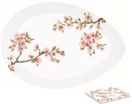 R2S.1087SAKU Porcelán kínálótál tojás forma,36x25cm,dobozban,Sakura
