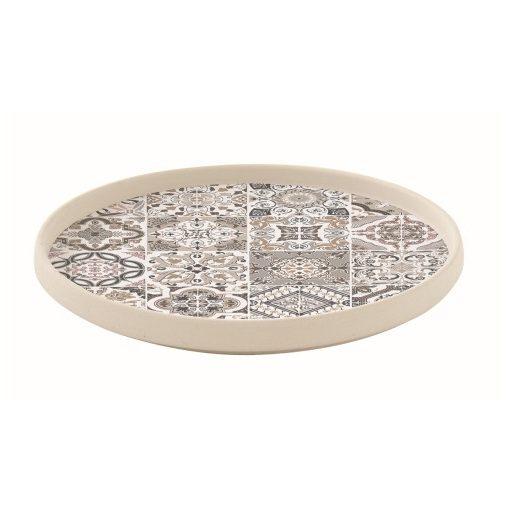 Porcelán desszerttányér 21cm,Casa Decor grey