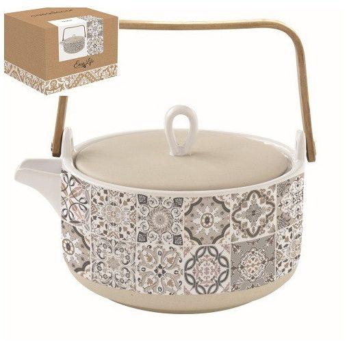 Porcelán teáskanna 850ml,dobozban,Casa Decor grey