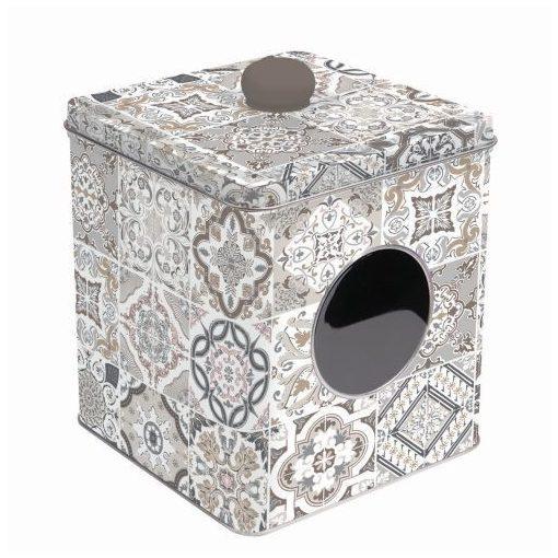Fémdoboz 13x13x14,5cm,Casa Decor grey
