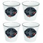 R2S.1602KIBC Porcelán eszpresszópohár 4 db-os szett 100ml, dobozban, Kitchen Basics