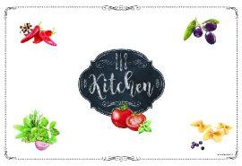 R2S.550KIBK Müanyag tányéralátét 45x30cm, Kitchen Basics