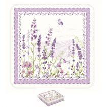 Parafa poháralátét 10,5x10,5cm,6db-os,Lavender Field