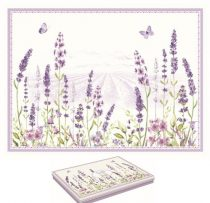 Parafa tányéralátét,40x30cm,4db-os,Lavender Field