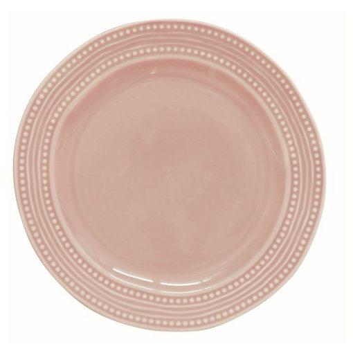 Porcelán lapostányér 26,5cm,Abitare Chic Light Pink