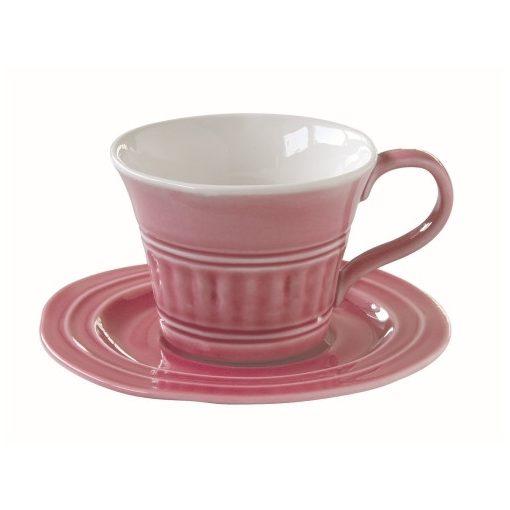 Porceláncsésze+alj 400ml,Abitare Chic Deep Pink