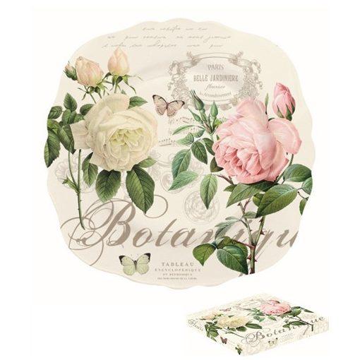 Porcelán desszerttányér 20cm,dobozban,Jardine Botanique